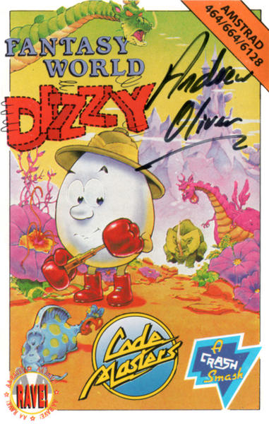 Fantasy World Dizzy - Signed Cover
